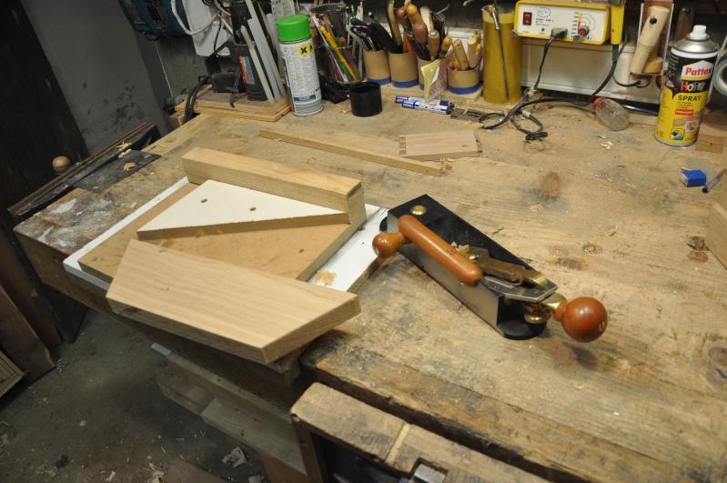 Fabrication d'un plateau  en bois pour table de bistrot 02010
