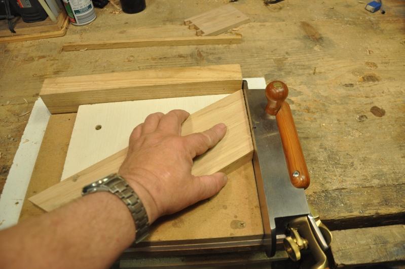 Fabrication d'un plateau  en bois pour table de bistrot 02110