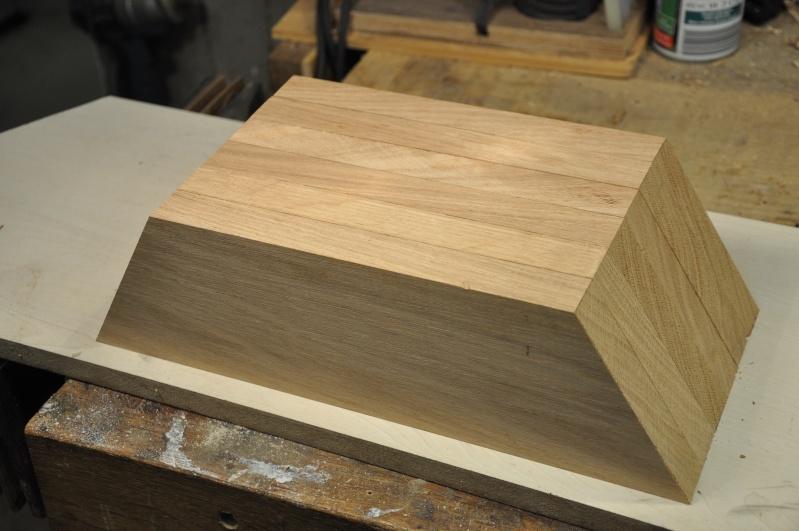 Fabrication d'un plateau  en bois pour table de bistrot 03211