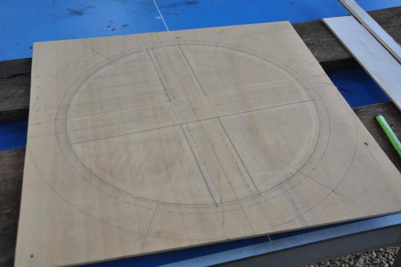 Fabrication d'un plateau  en bois pour table de bistrot Platea12