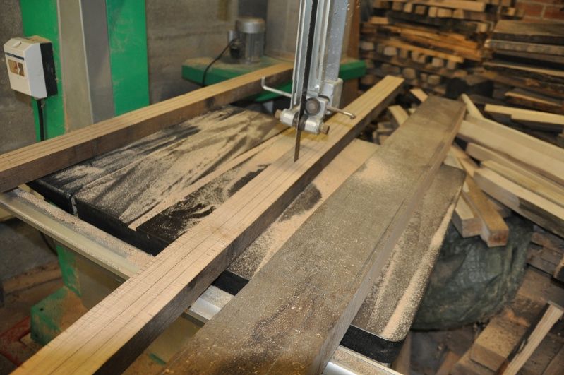Fabrication d'un plateau  en bois pour table de bistrot Platea16