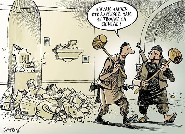 Destruction au musée de Mossoul : 10897910
