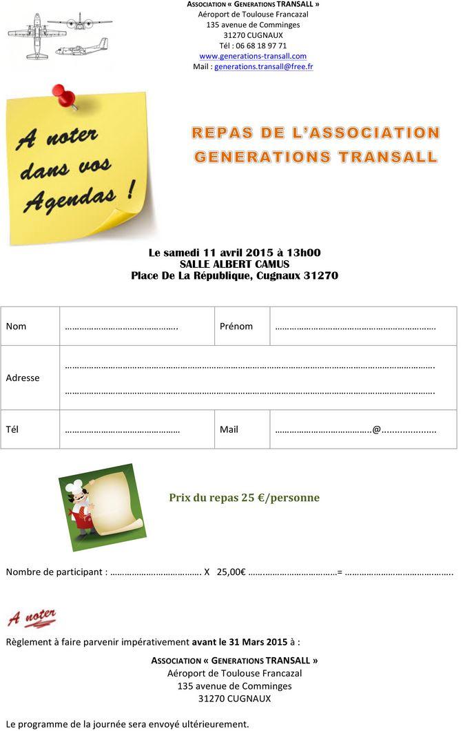 Déjeuner génération TRANSALL sue la base de Francazall le 11 avril 2015 à 13h Genera10