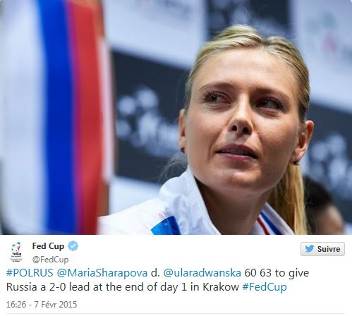 FED CUP 2015 : Groupe Mondial - Page 3 Maria16