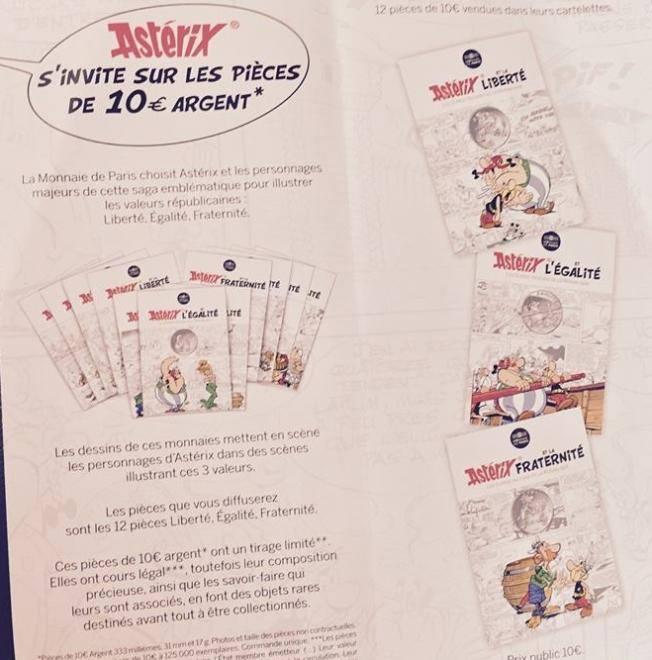 Nouvelles pieces 10€ argent Asterix Asteri12