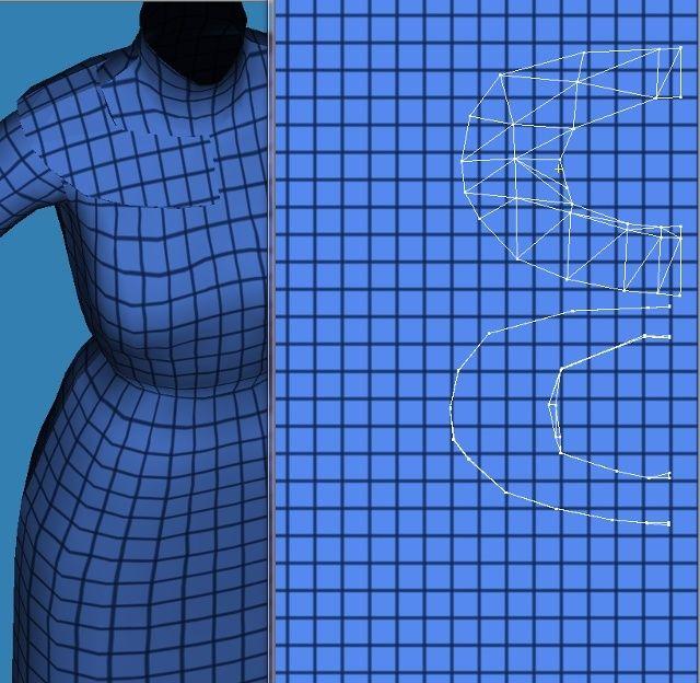 [Confirmé]Extrude : pour ajouter du relief à vos meshes de vêtements Fig3010
