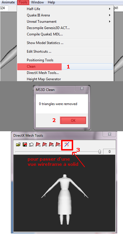 [débutant] Création des medium et low level : DirectX Mesh Tools (MS3D) et MeshToolKit Fig6_m10
