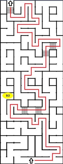 Labyrinthe de l'épisode Dust to Dust Sylvai14