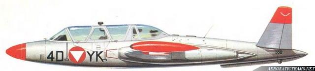 Fouga Magister CM170 Patrouille de France 1965 Silver11