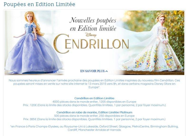 Disney Store Poupées Limited Edition 17'' (depuis 2009) Cind10