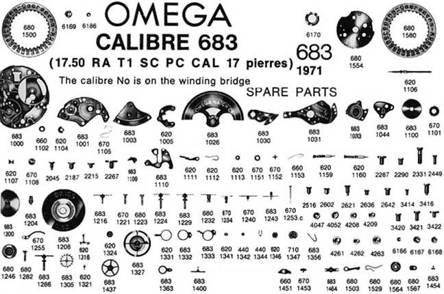omega - masse oscillante sur omega cal 684  Ome68310