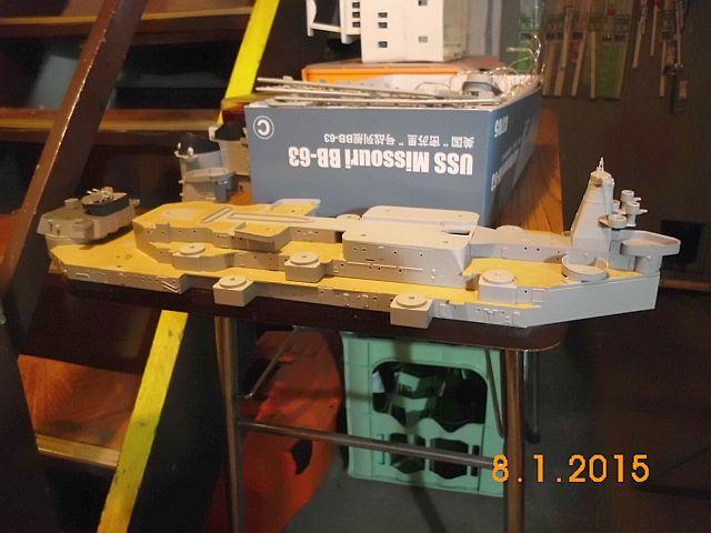USS Missouri BB-63 - Ungefähr 1949-51- 1-200 von Trumpeter - Seite 2 6a10