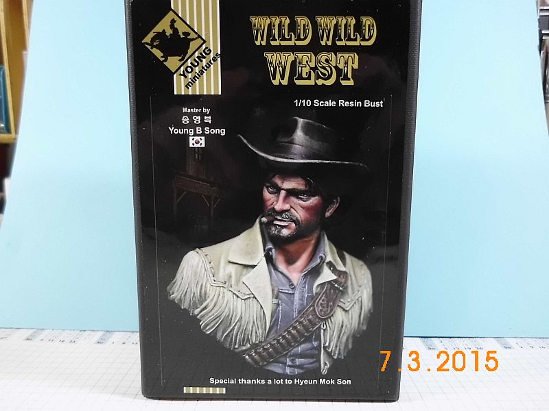 "Young Miniatures YH 1835 ""Wild West"" - Resin Büste 1/10 - Fertig 8y10"
