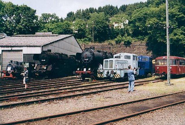 Besuch im Eisenbahnmuseum Dieringhausen 2003 Dierin13