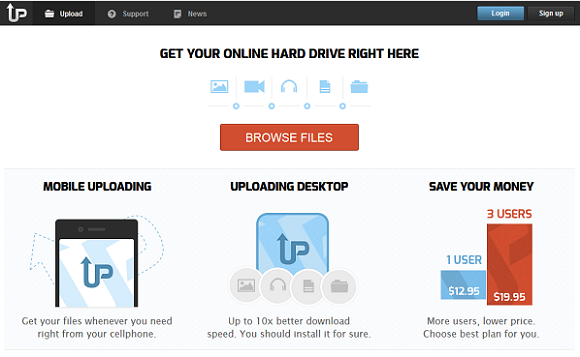 uploading servicio de hosting para archivos  Upload10