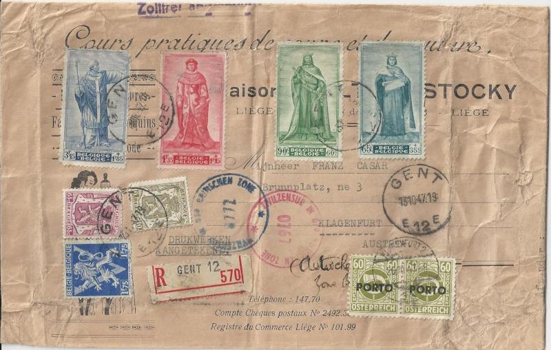 Verwendung von Portomarken in Österreich Bild16