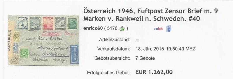 Posthornzeichnung  -  ANK 697-713  -  Belege - Seite 2 Bild27