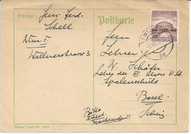 Briefe oder Karten von/an berühmte oder bekannte Personen Bild34