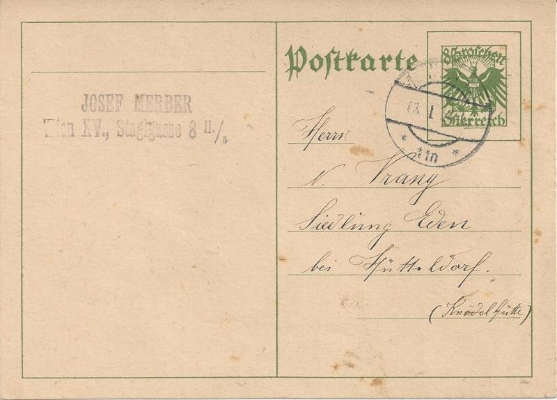 Bedarfspost Ganzsachen Österreich 1925-1938 Bild41