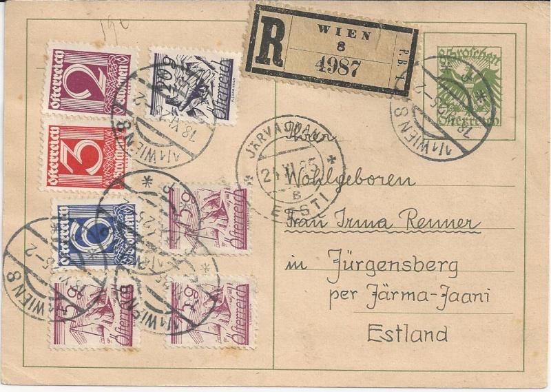 Bedarfspost Ganzsachen Österreich 1925-1938 Bild42