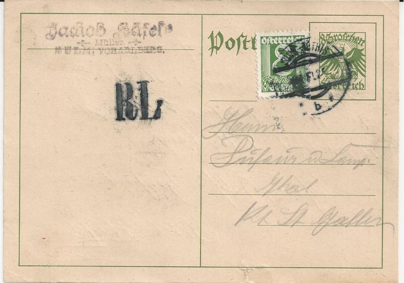 Bedarfspost Ganzsachen Österreich 1925-1938 Bild43