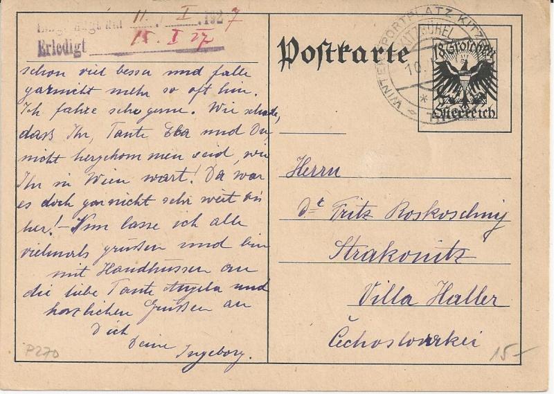 Bedarfspost Ganzsachen Österreich 1925-1938 Bild45