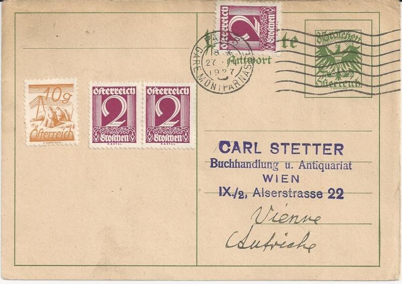Bedarfspost Ganzsachen Österreich 1925-1938 Bild48