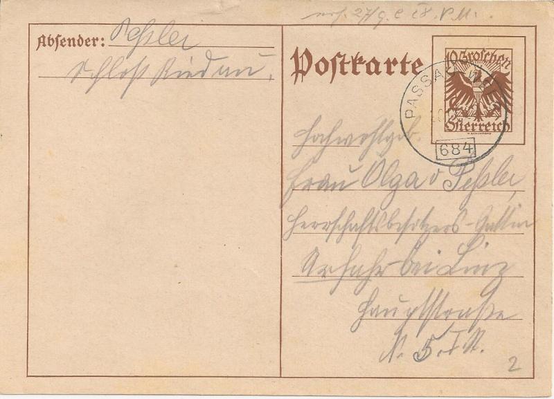 Bedarfspost Ganzsachen Österreich 1925-1938 Bild50
