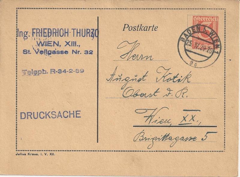 Bedarfspost Ganzsachen Österreich 1925-1938 Bild56