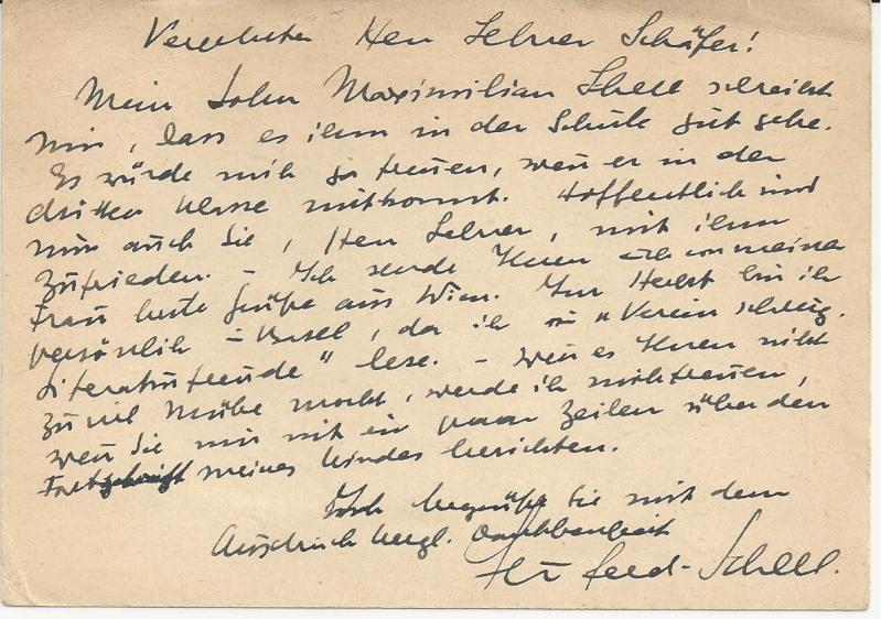 Briefe oder Karten von/an berühmte oder bekannte Personen Bild_230