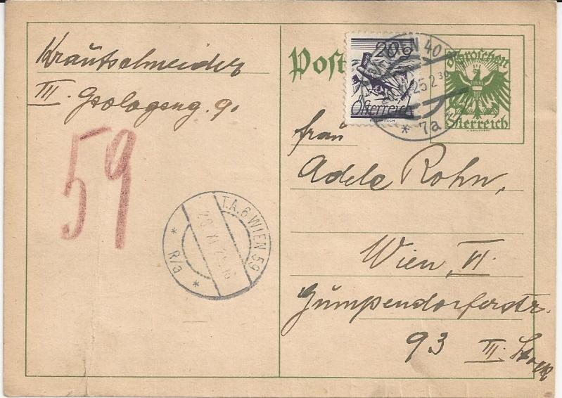 Bedarfspost Ganzsachen Österreich 1925-1938 Bild_236