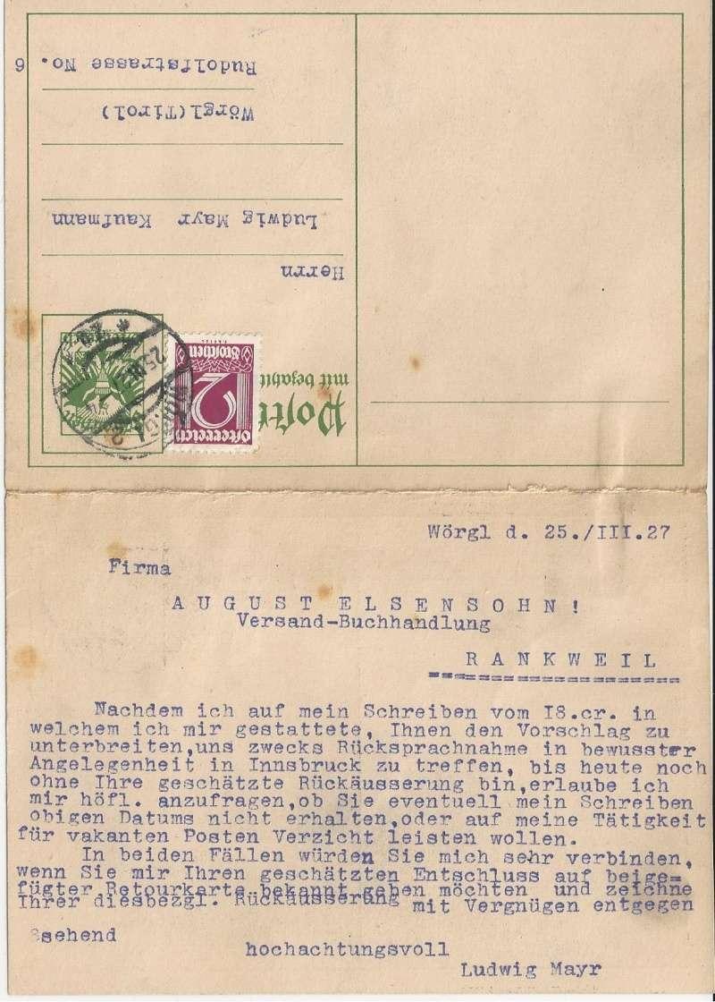 Bedarfspost Ganzsachen Österreich 1925-1938 Bild_240