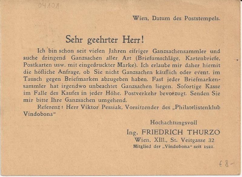 Bedarfspost Ganzsachen Österreich 1925-1938 Bild_246