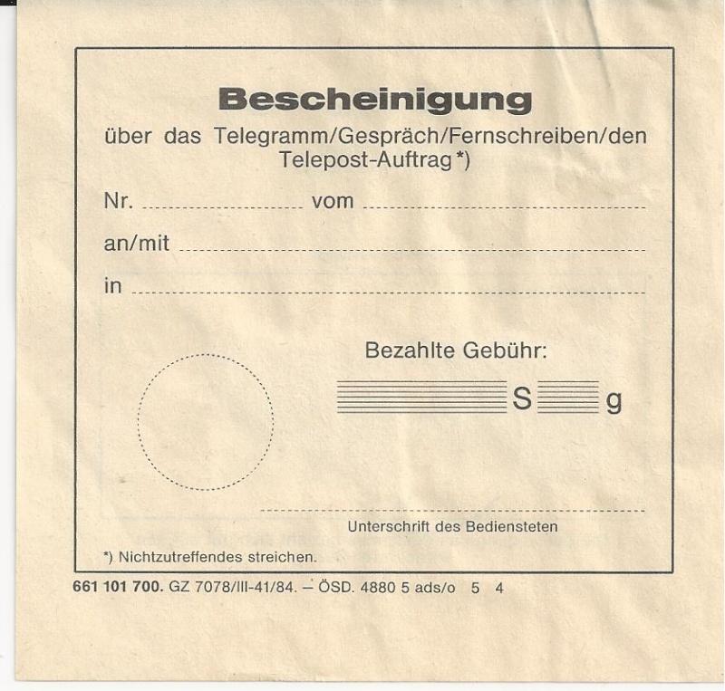 Frage: Telegramm-Aufgabeschein 1946 Bild_253