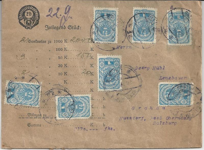 Inflation in Österreich - Belege - 1918 bis 1925 - Seite 3 Bild_310
