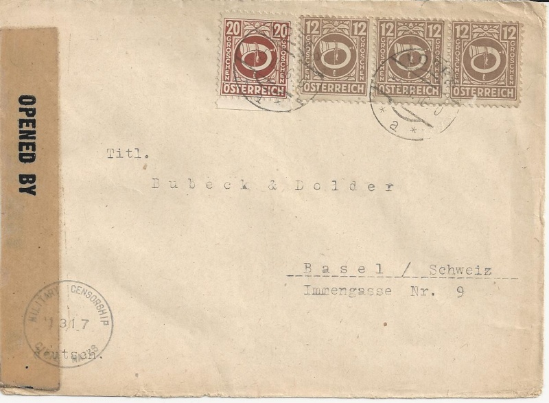 Posthornzeichnung  -  ANK 697-713  -  Belege - Seite 2 Bild_312