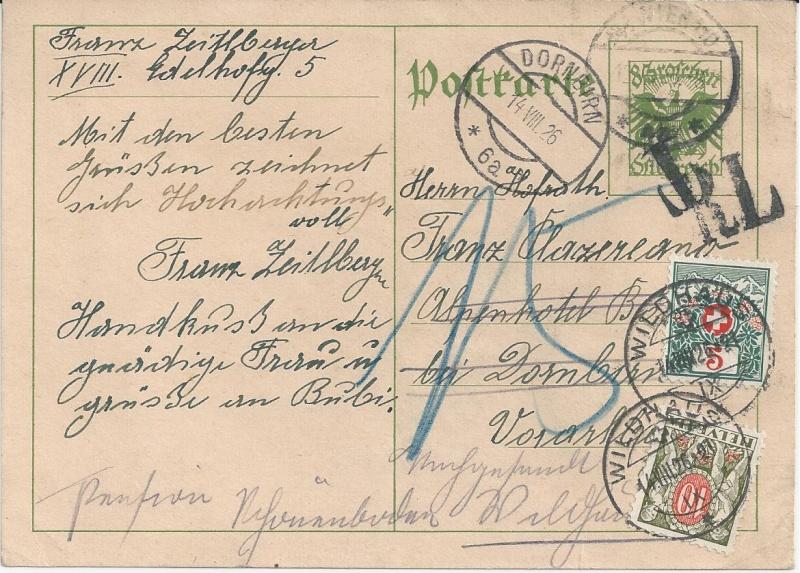 Bedarfspost Ganzsachen Österreich 1925-1938 Bild_330