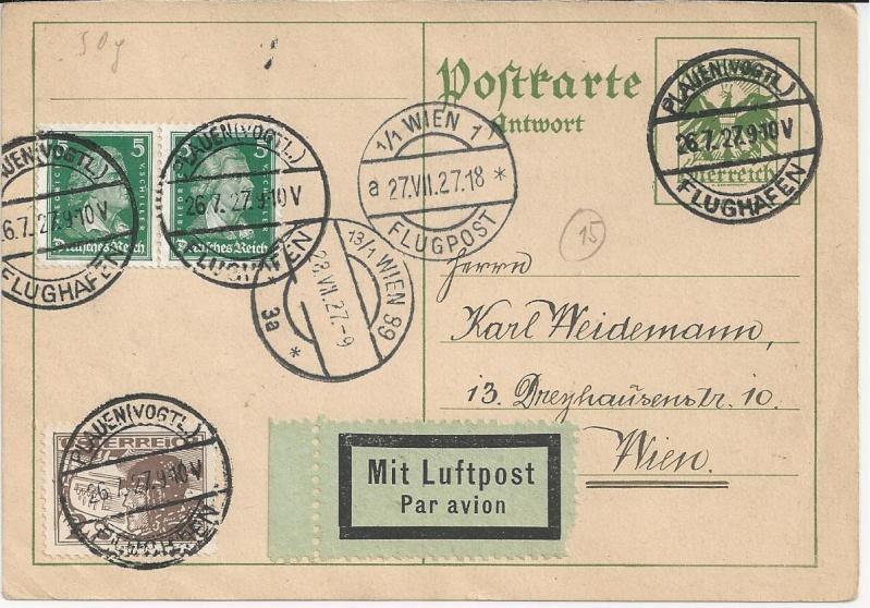 Bedarfspost Ganzsachen Österreich 1925-1938 Bild_333