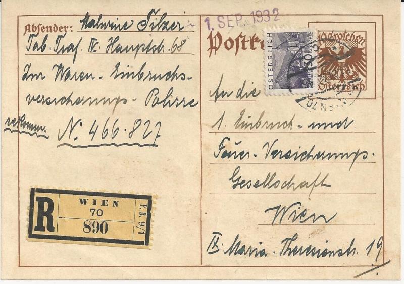 Bedarfspost Ganzsachen Österreich 1925-1938 Bild_335