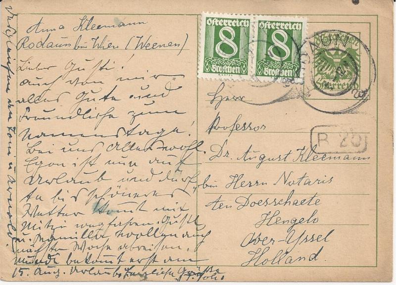 Bedarfspost Ganzsachen Österreich 1925-1938 Bild_421