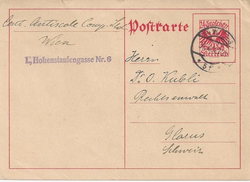 Bedarfspost Ganzsachen Österreich 1925-1938 Bild_422
