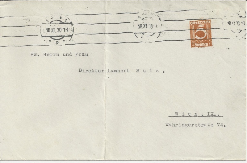 Bedarfspost Ganzsachen Österreich 1925-1938 Bild_427