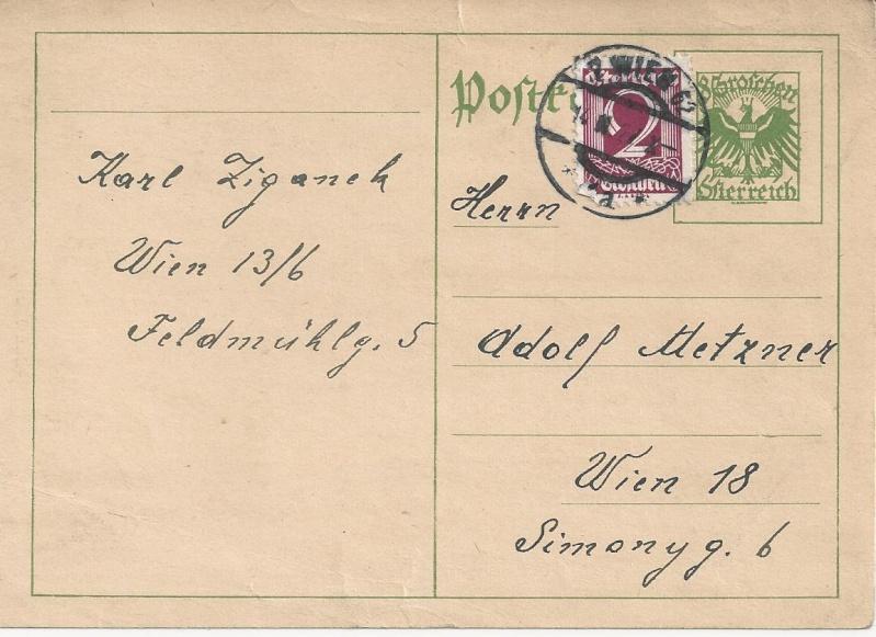 Bedarfspost Ganzsachen Österreich 1925-1938 Bild_522