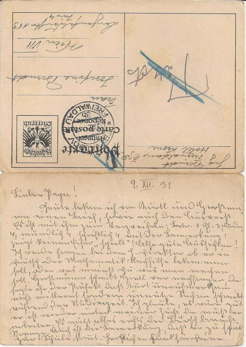 Bedarfspost Ganzsachen Österreich 1925-1938 Bild_523