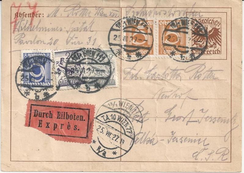 Bedarfspost Ganzsachen Österreich 1925-1938 Bild_525