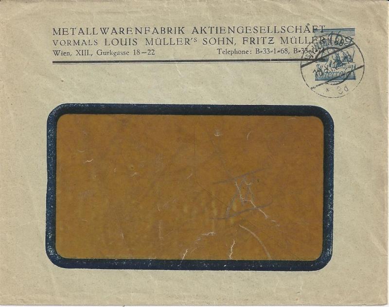 Bedarfspost Ganzsachen Österreich 1925-1938 Bild_623