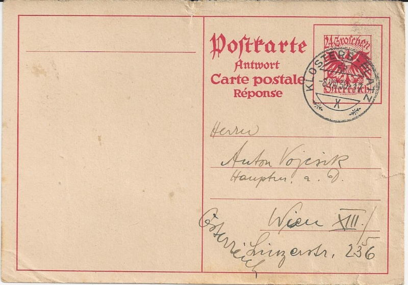 Bedarfspost Ganzsachen Österreich 1925-1938 Bild_717