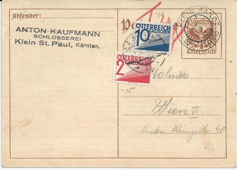 Bedarfspost Ganzsachen Österreich 1925-1938 Bild_719