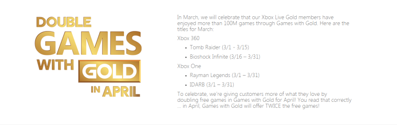 Games with Gold Mars 2015 - Rayman Legends Oy0isc10