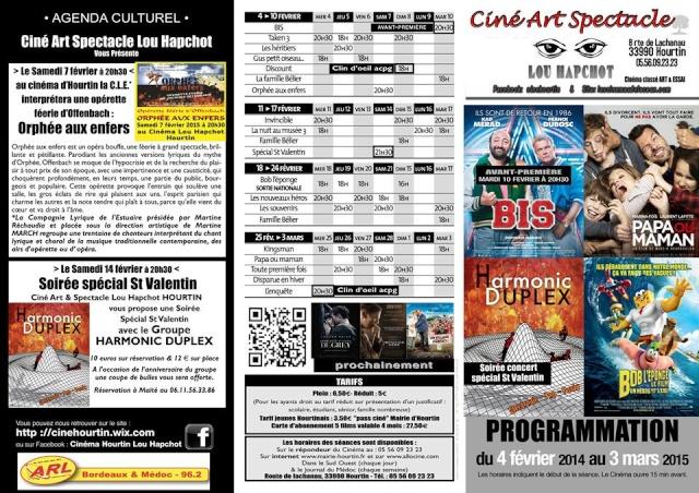 Programmation du Cinema Hourtin Lou Hapchot 10615410